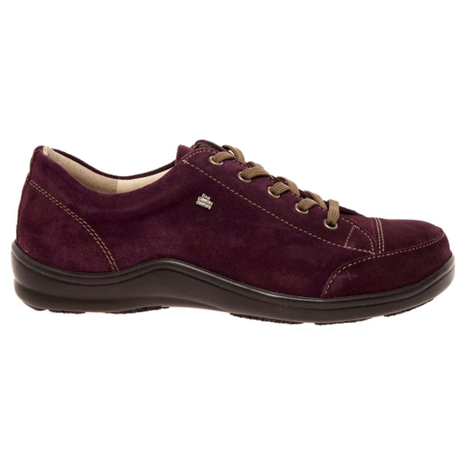 Finn Comfort Women's Soho Vino Velour Sneaker 39 (US Women's 8.5-9) Medium