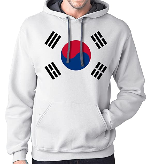 f2a96b717f9 Amazon.com  South Korea Flag Hoodie Sweatshirt  Clothing