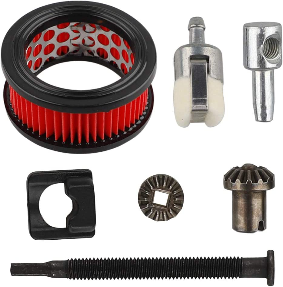 HUZTL Chain Bar Tensioner Adjuster Kit Set Assembly 90155Y Air Filter Repower Tune-Up Kit for Echo CS370 CS370F CS400 CS400F CS420ES CS-450 Chainsaw