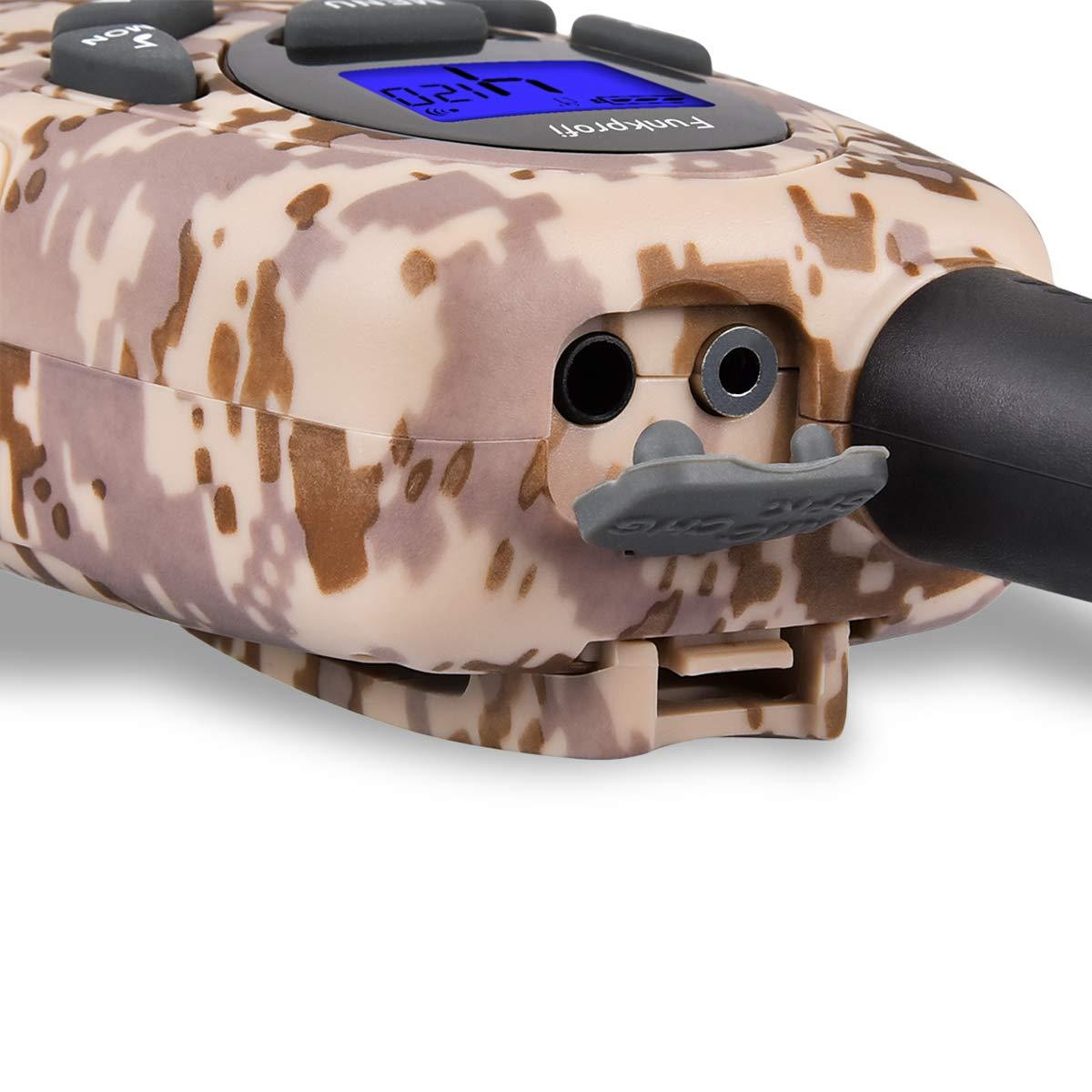 2 Unidades, con bater/ías Recargables, 8 Canales, Alcance de 3 km, Tipo C Walkie Talkies para ni/ños Funkprofi T-799