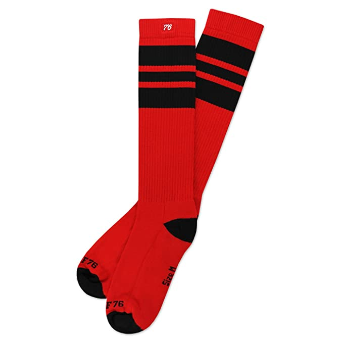 Spirit of 76 Oldschoolsocks by rojo calcetines altos | skater tube socks | the black Blacks
