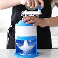 Manual Ice Crusher Hand Operated Ice Shaver Machine Candy Snow Cone Maker For Home Kitchen Cocktails, Slushies, Smoothies and Iced Coffees