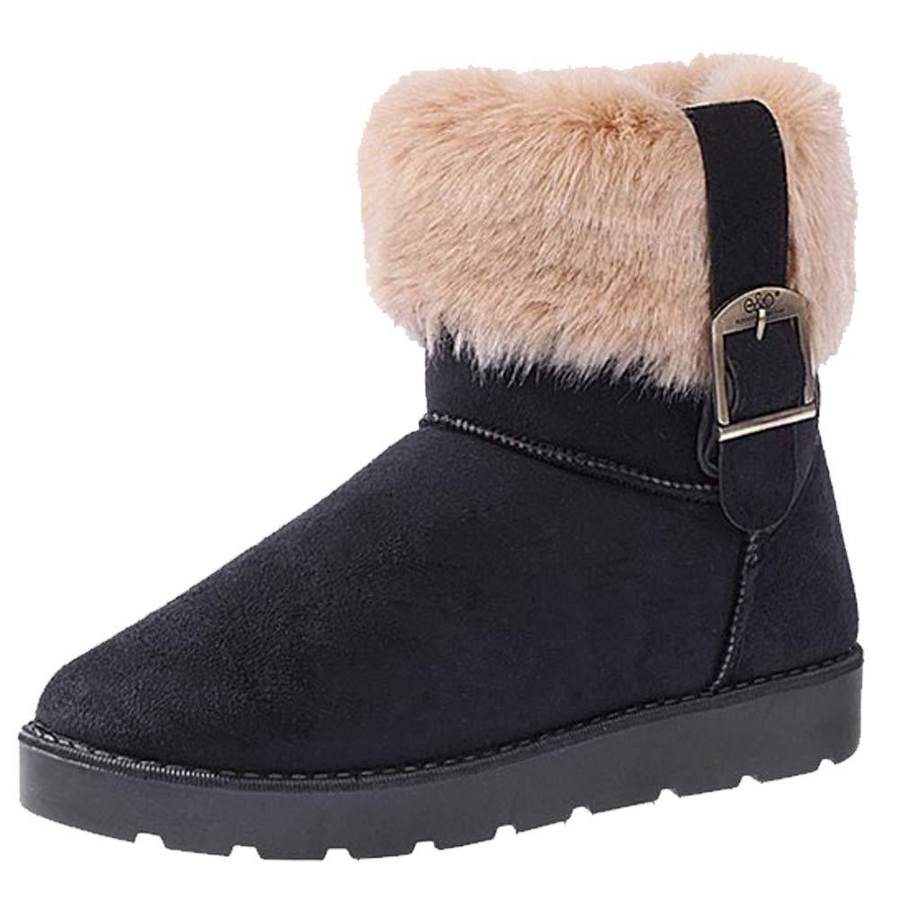 4ca4a08c311a3 Femme Bottes De Neige Fourrées Fausse Fourrure Classique Confortables Daim  Bottines Suede Chere Mode Casual Chaussures ...