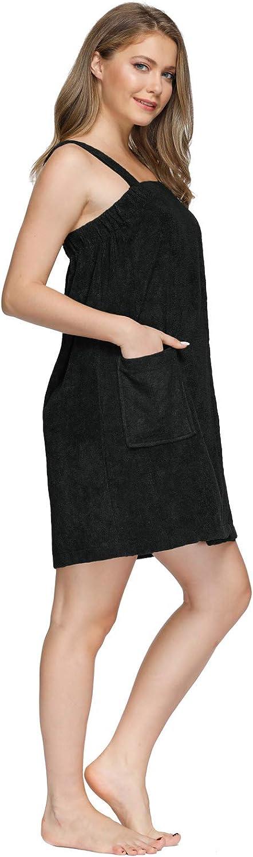 Zexxxy Saunakilt Damen mit Klettverschluss Sauna Saunatuch Handt/ücher Set mit Hair Wrap Bademantel
