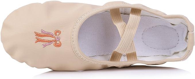 CHICTRY Chaussure de Ballet Ballerine Fille Chaussure de Danse Split Plate/&Pilates/&Yoga/&Gym/&Ballet Doux Toile Chaussons Pour Enfants,Adultes,Filles,Dames Taille EU 26-34