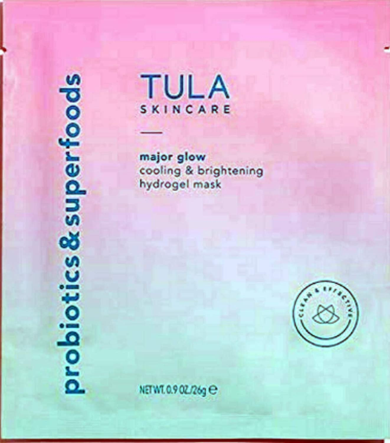 TULA Skincare Major Glow Cooling & Brightening Hydrogel Face Mask
