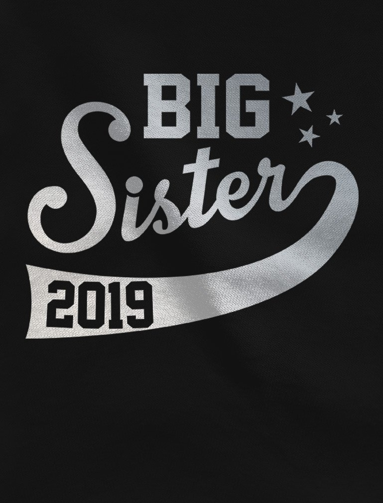 Big Sister Est 2019 Sibling Gift Idea Toddler/Kids Girls' Fitted T-Shirt
