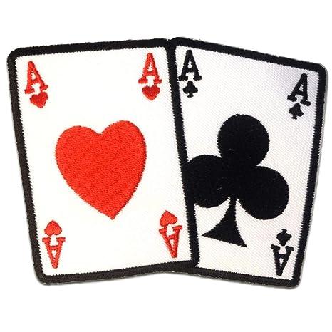 Parches - Poker ase carta Biker - blanco - 10.5x7.5cm ...