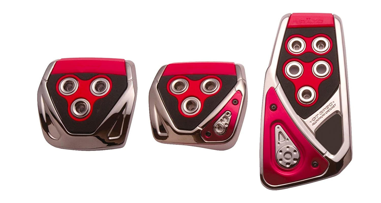 3 Piece Razo RP105REA GT SPEC Red Large Manual Transmission Pedal Set