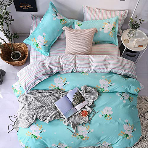 SSHHJ Luxury Comforter Bedding Sets Geometric Pattern Bed Duvet Cover Pillowcases Cover Set E 220x240cm ()