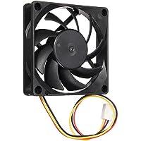 prev ently Ventilateur Case Fan avec standard Petit ventilateur silencieux 7cm/70mm/70x 70x 15mm 12V Ordinateur/PC/CPU Stilles Ventilateur de refroidissement pour bureau chambre haut le vent à angle d'inclinaison réglable, noir