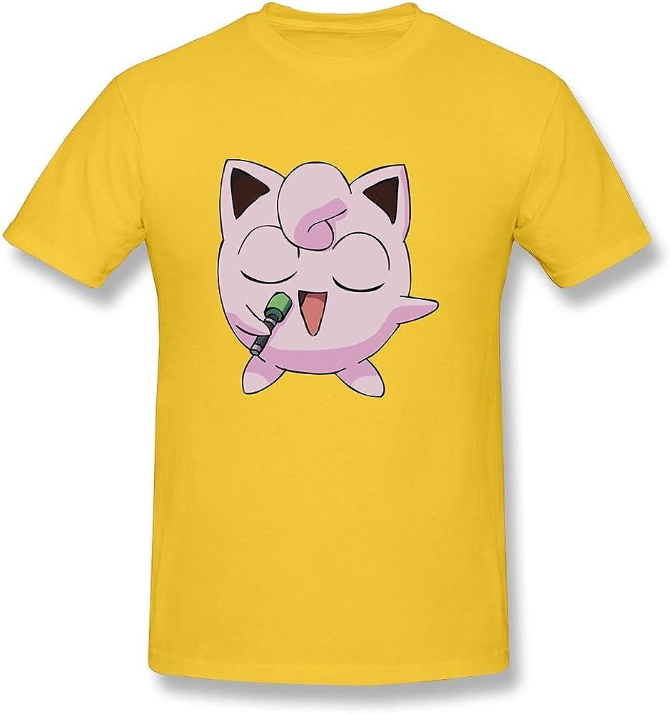 DENISG Men T Shirts Customized Round Neck Causal Jigglypuff Male T Shirts