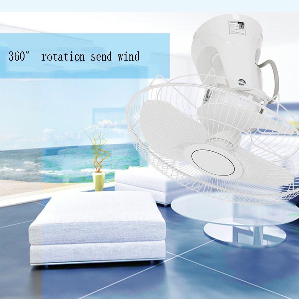 ZZHDDP Elektrischer Ventilator-Haushalts-Deckenventilator Industrieller an der Wand befestigter Ventilator-stufenlose Geschwindigkeits-Regelung 360-Grad-drehender Ventilator
