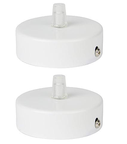 Florón blanco | embellecedor para lámpara de techo, suspensor estándar tamaño m10, 80x25 mm | embellecedor para lámpara de techo | incl. ...