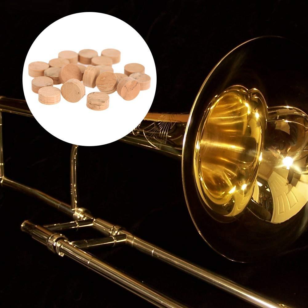 20Pcs 9.5mm Trombone Trombone Riparazione Tappetini in Sughero Parti Accessori per Strumenti Musicali RiToEasysports Trumpet Cork Pads