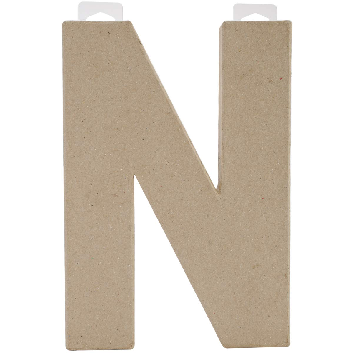 Darice Paper Mache Letter N 8 X 5.5 Inches (12 Pack)