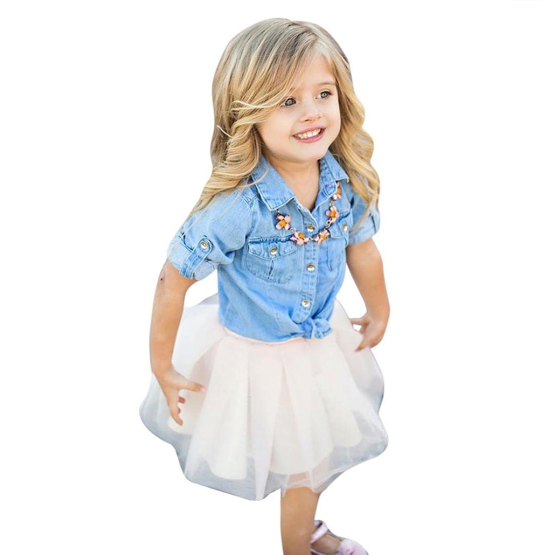 💜 Ropa para Padres e Hijos,Mami y yo Chica de Niños Camiseta de Mezclilla Tops + Skirt Dress Conjunto de Trajes de Ropa Familiar Absolute: Amazon.es: Ropa ...
