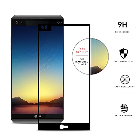 online store 82dde ebfe2 LG V20 Screen Protector - Zizo [Edge to Edge] LG V20 Tempered Glass w/ [9H  Hardness] Bubble-Free [Anti-Scratch] Ultimate Clarity and Protection