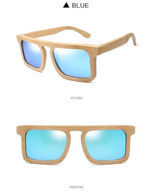 Z&HA Unisex Mode Bambus Sonnenbrille Harz Objektiv Vintage Handgefertigten Holzrahmen Anti-Fog Schattierung Polarisierte Brillen,Tea