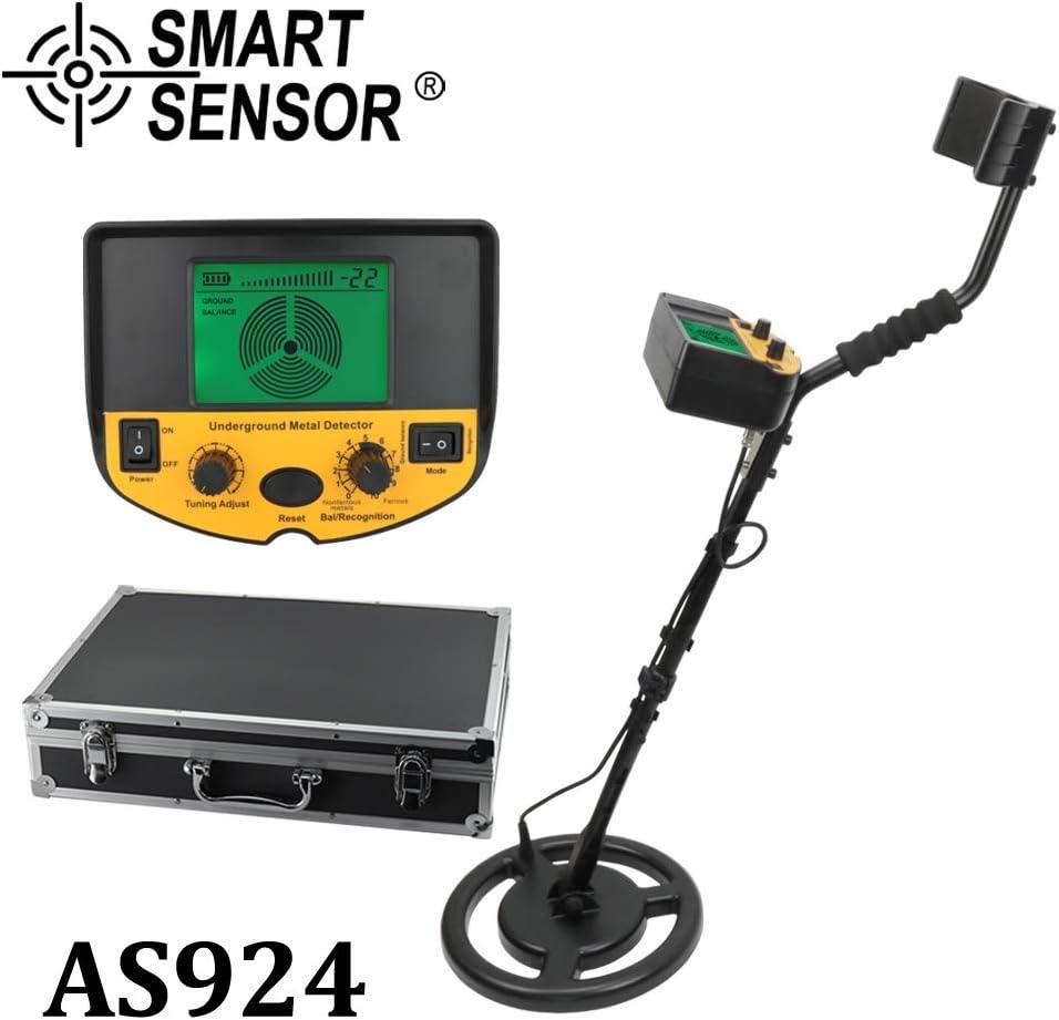 IROSE Detector de Metales Detector de Metales subterráneo del Detector del buscador de Oro buscador de Tesoros Profesional AR924 Precio Detector de Metales / AS924 Profundidad de 1,5 m / 2,5 m: Amazon.es: Hogar