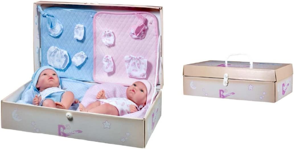 Rauber- Muñeco Recien Nacido mellizos, Multicolor (2562)