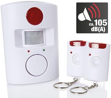Kompernass Detector de movimiento con alarma 105 Db (a), aprox. 110 °