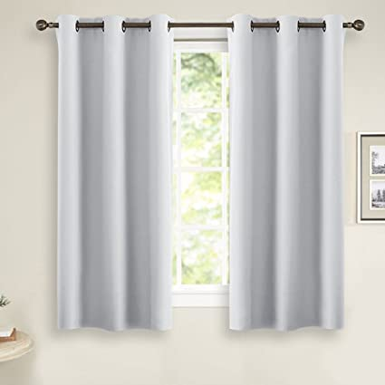 Room Darkening Curtains For Kitchen Windows   PONY DANCE Ring Top Blackout  Curtain Panels Window Treatment