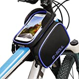 Liwes Bike Frame Bag, Bicycle Handlebar Bag for Cell Phone, Waterproof 5.0-6.0 inch Touch Screen Mobile Phone Bag Bicycle Top Tube Bag Bike Accessories