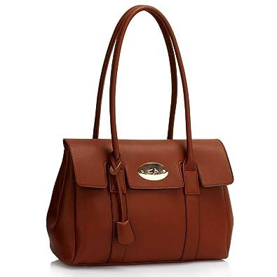 Womens Handbags Ladies Designer (Grey) Shoulder Bag Faux Leather 3 ...