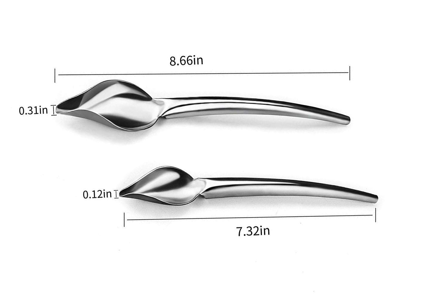 Favson Deco Spoon Multi-use Precision Chef Culinary Drawing Spoons for Decorating Plates Set of 2
