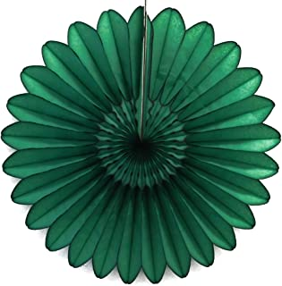 "product image for 3-Pack 18"" Tissue Paper Fanburst (Dark Green)"