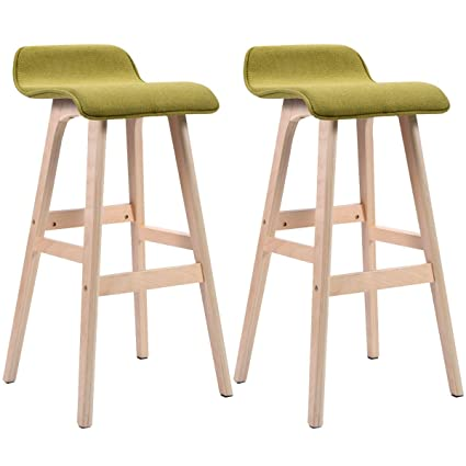 Phenomenal Amazon Com Ayamastro 33 Wooden 2Pcs Dining Chair Counter Andrewgaddart Wooden Chair Designs For Living Room Andrewgaddartcom