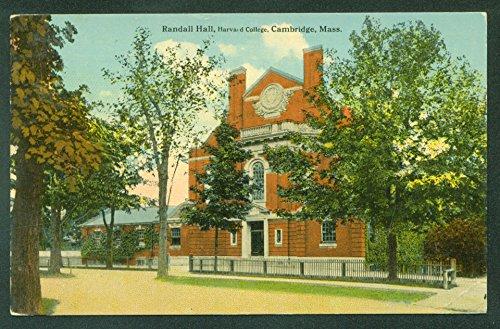 Randall Hall HARVARD COLLEGE Cambridge MA Massachusetts - Cambridge Us Ma
