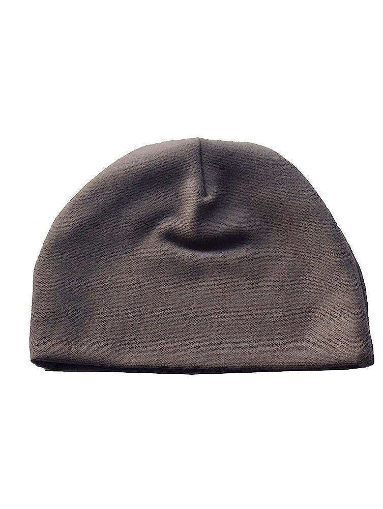 Sophia Sam Baby Unisex Gray Solid Color Cotton Beanie Hat 0-2