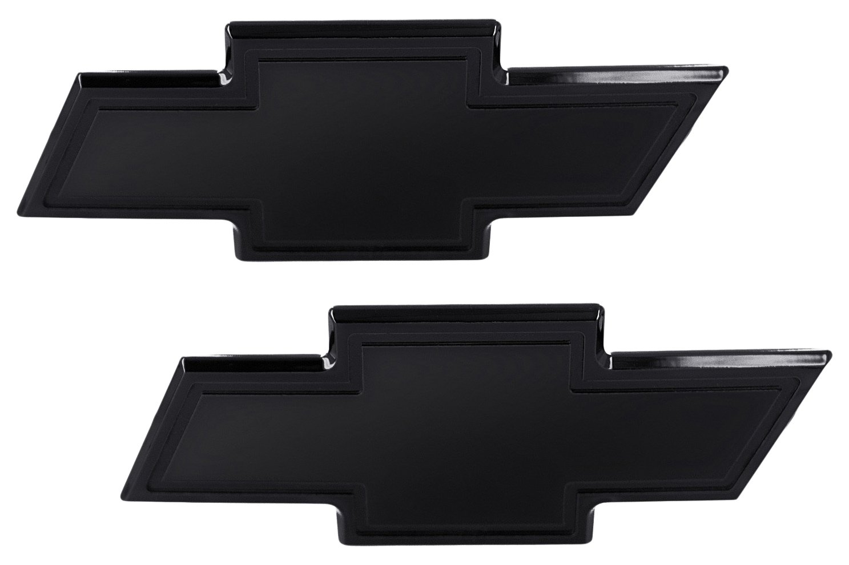 AMI 96130K Chevy Bowtie Grille & Lift gate Emblem with Border- Black Powder coat, 1 Pack