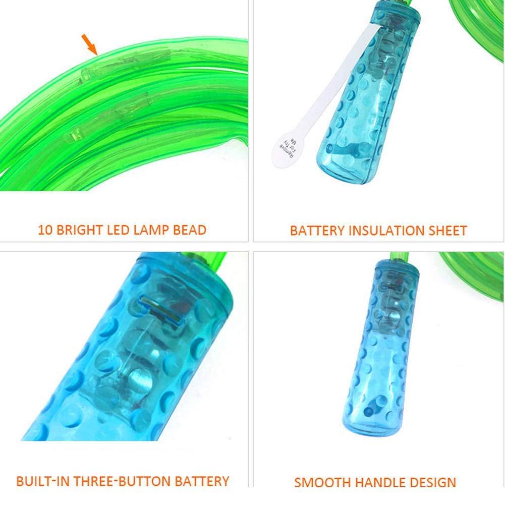 LED Clignotant Light Up Corde /à Sauter Rouge Changement de Couleur Clignotant Corde /à Sauter Color/é Jouet Amusant L/éger Glow pour Enfants Adultes Home Exercices Minceur Fitness Jeux