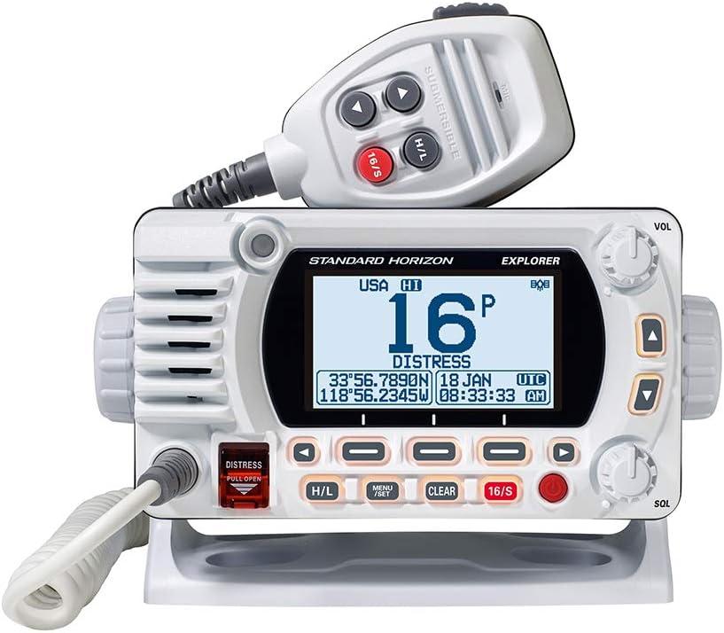 Standard Horizon 1850G - Soporte fijo VHF con GPS, color blanco [GX1850GW]: Amazon.es: Electrónica