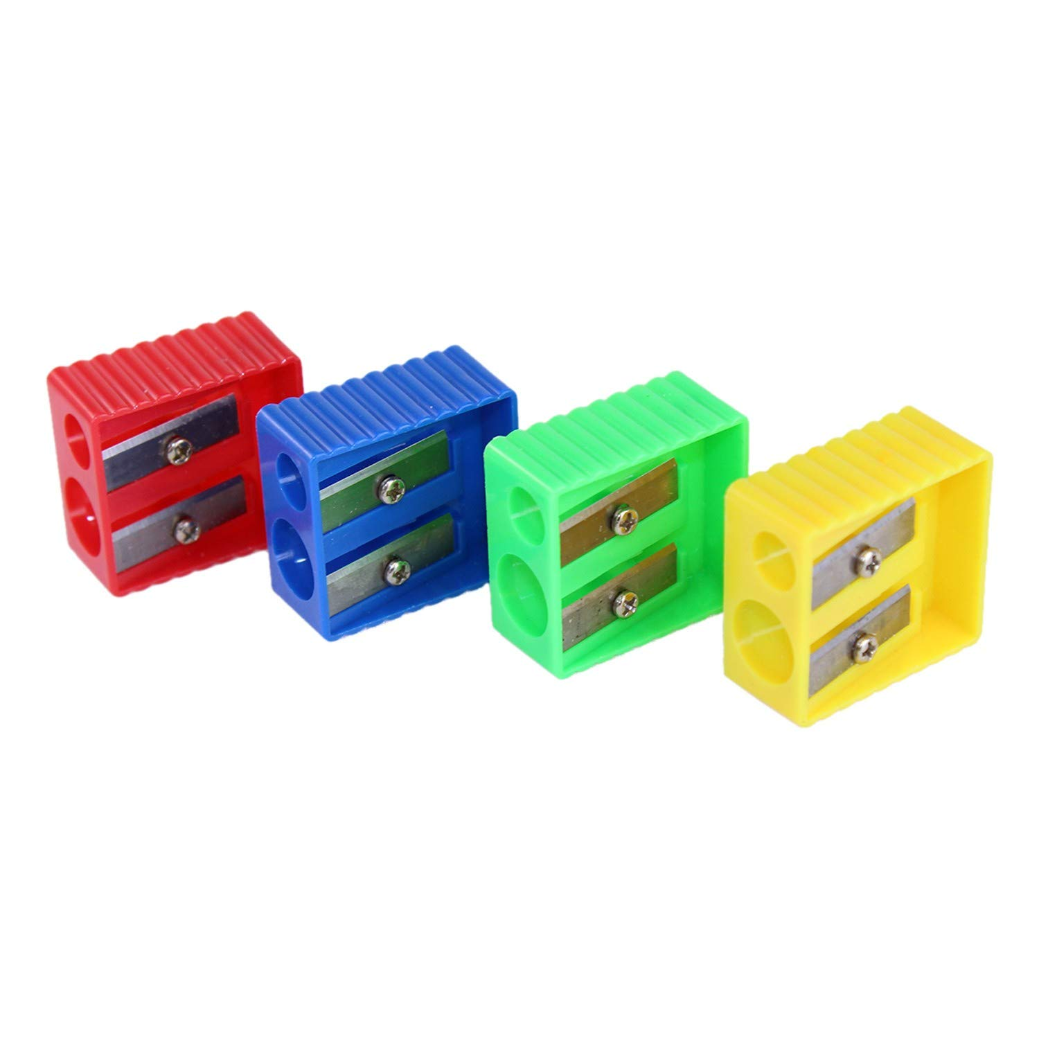 240 Sharpeners - Wholesale Kids 2 Hole Pencil Sharpener in 4 Assorted Colors - School Supplies - Bulk Case