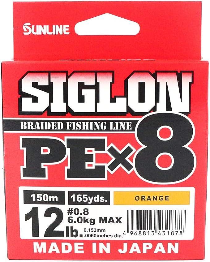 0,17 EUR//m Sunline Siglon PE X8 150 m geflochtene Schnur Made In Japan