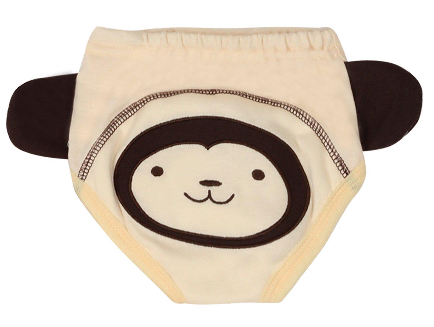4Pack Baby Girls Traning Pants Toddler Cotton Cute Training Underwear Potty Cloth Diaper Panda Cat Size 90