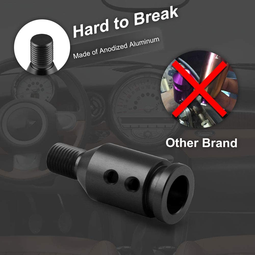 RYANSTAR Shift knob Shifter Adapter Universal for Non Threaded Shifters M12/×1.25 for BMW//VW Black