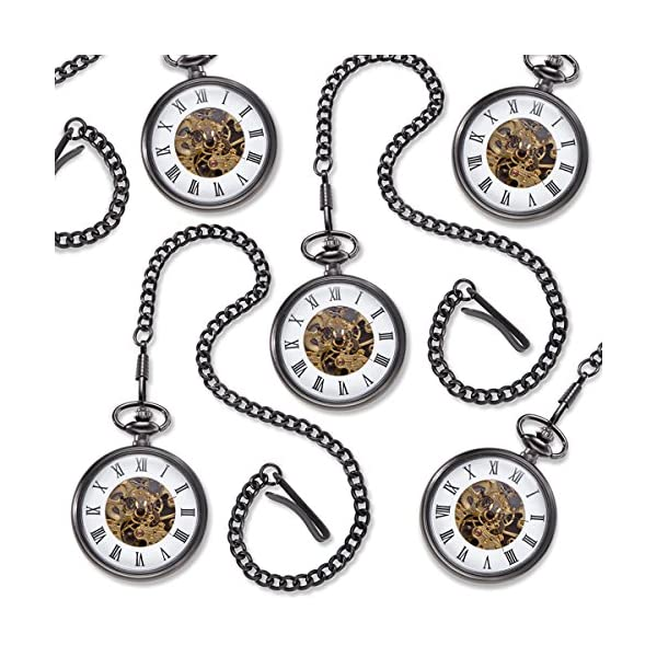 Set-of-5-Personalized-Gunmetal-Gray-Exposed-Gears-Pocket-Watch-Personalized-Pocket-Watch-Set-of-5-Engraved-Pocket-Watch-Custom-Pocket-Watch