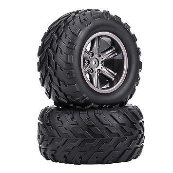 2Pcs RC Off-Road Coche Llantas, RC Crawler Coche TPR Neumáticos Ruedas de Cubos para 1/12 RC Coche Truck Crawler: Amazon.es: Juguetes y juegos