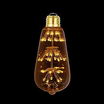Century Light - LED Vintage Edison Bombilla Estrella ST64 3W Cálido Blanco 2200K decoraciones de Fiesta