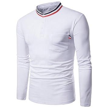 Feixiang Camisa para Hombre, Hombre Casual Manga Larga Camisa ...