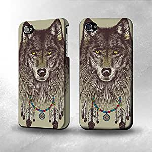 Apple iPhone 4 / 4S Case - The Best 3D Full Wrap iPhone Case - Grim Wolf Indian