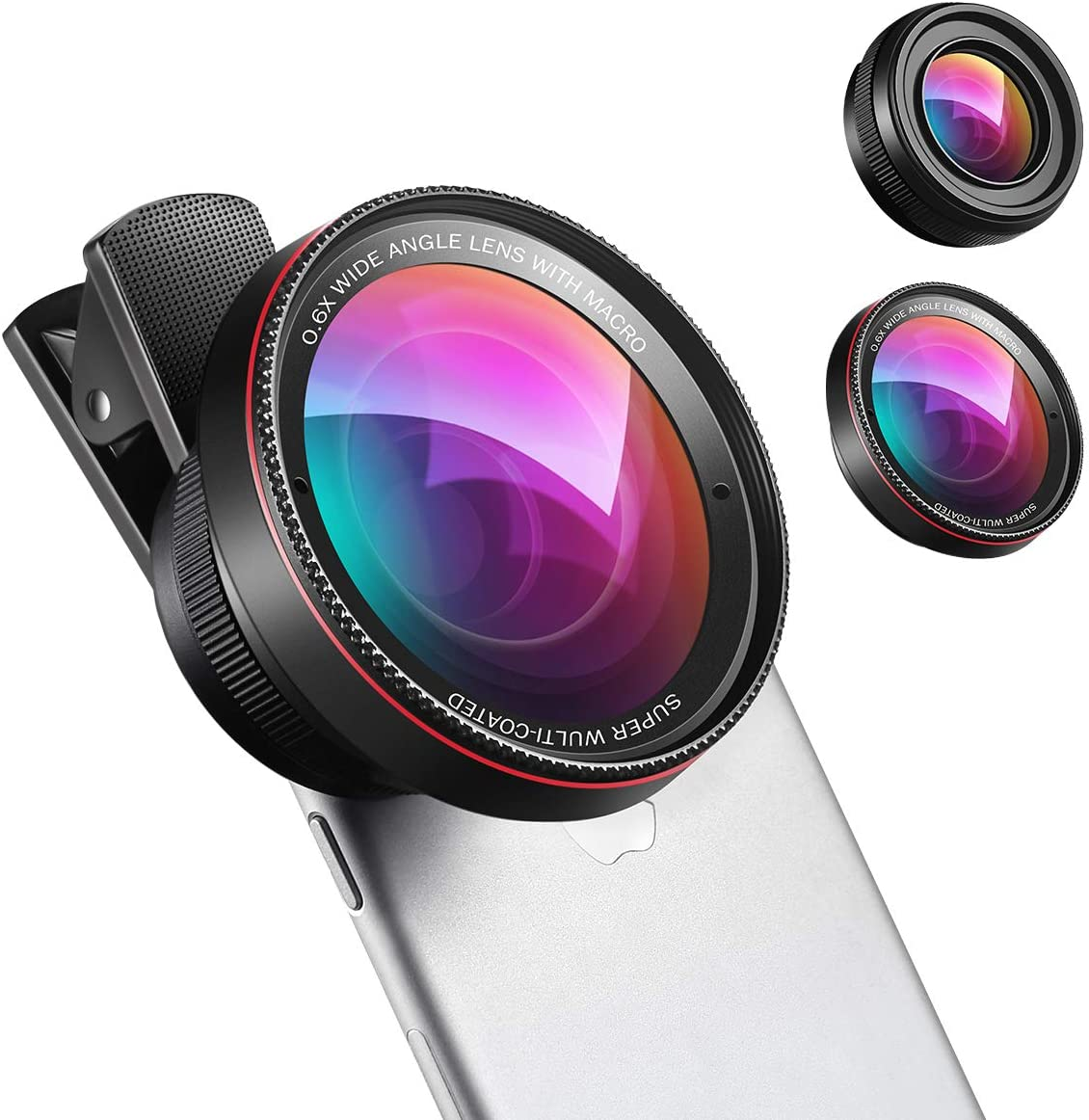 Amazon Com New Phone Camera Lens 0 6x Super Wide Angle Lens 15x Macro Lens 2 In 1 Clip On Cell Phone Lens Attachment Kit For Iphone Samsung Other Smartphones