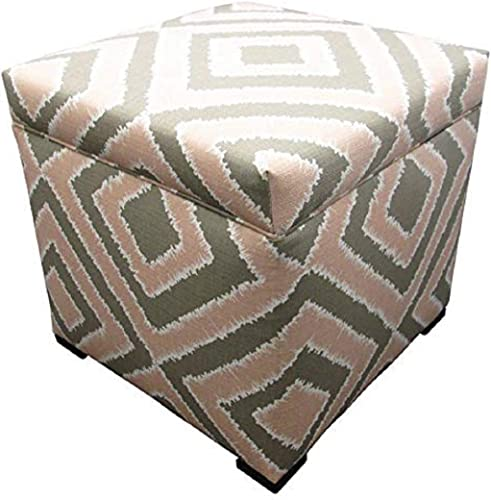 Sole Designs Nouveau Series Tami Collection Pink Blush Finish Upholstered Ottoman
