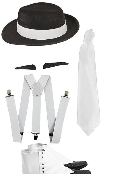 FANCY DRESS ACCESSORY BRACES WHITE