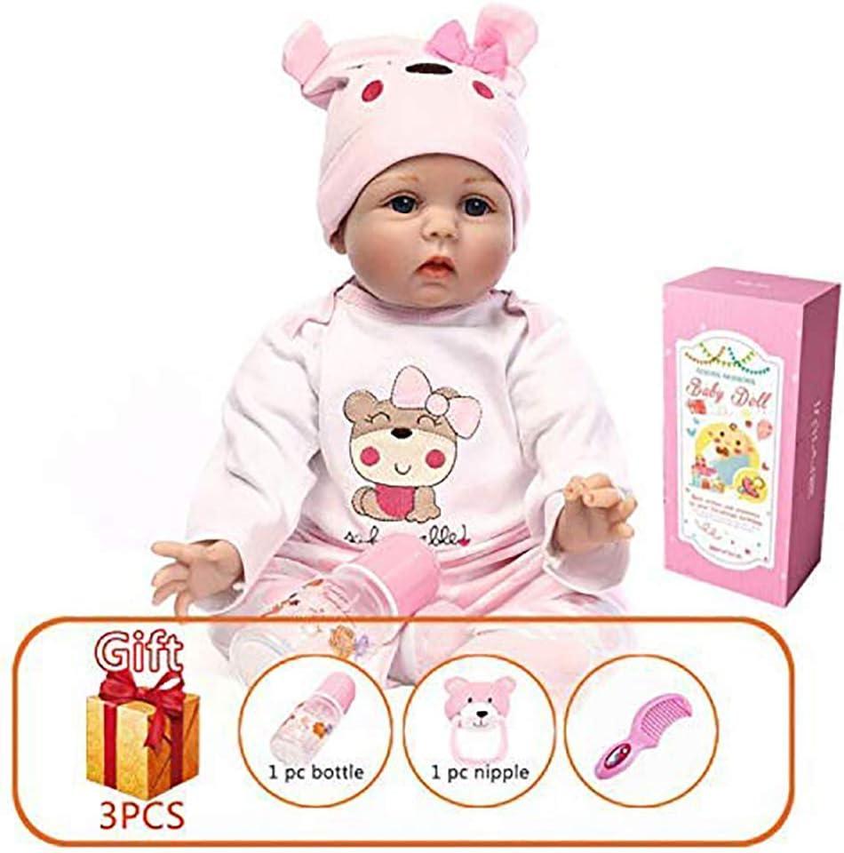 Amazon.es: HRYEOY Bebé Realista de Silicona muñecas Reborn Vinilo ...